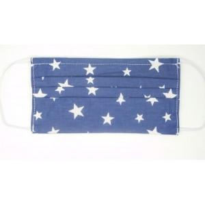 Masca protectie,lavabila - set 5 buc.MAFS340 NAVY/WH.STARS