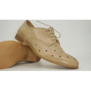 Pantofi piele cu perforatii pt.femei-8045 EDE