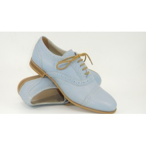 Pantofi piele cu perforatii pt.femei-885 EDE